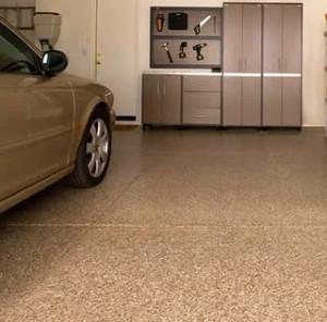 Resurfaced Garage Floor
