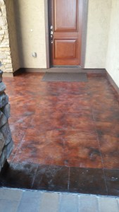 Acid Washed and Stained Concrete Floors by Dreamcoat Flooring Phoenix AZ