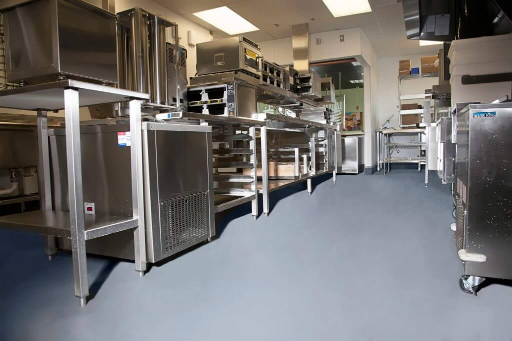 Commercial Kitchen Flooring Epoxy Stained Concrete For