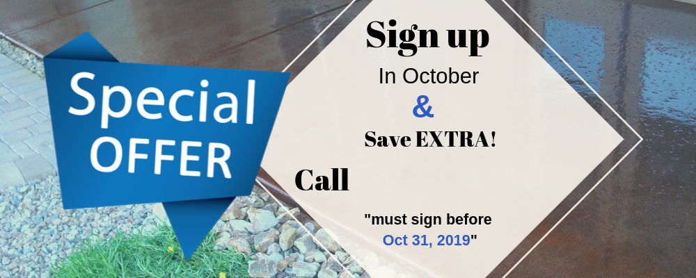 Sign up in October and save Extra