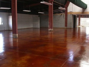 Concrete Staining options for commercial and residential concrete